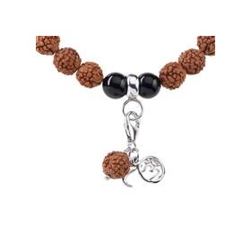 Meditacijska zapestnica - sumaran s črnim turmalinom in rudrakš zrni (Zaščita)