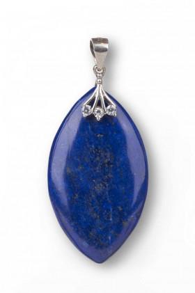 Obesek Lapis lazuli s srebrnim obeskom