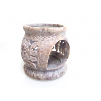 Stone incense resin burner with grill