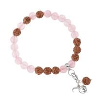 Meditacijska zapestnica - sumaran z roževcem in rudrakš zrni (Love)