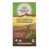 Čaj Tulsi Green Tea Ashwagandha - Tulsi z zelenim lajem in ašvagandho - čajne vrečke