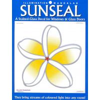 Nalepka za steklo Sunseal Rumeni frangipani