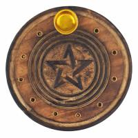 Podstavek za dišeče palčke Pentagram, les
