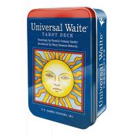 Karte Universal Waite tarot deck v pločevinki