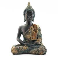 Kip Buda v meditaciji, antika finiš, tajski 14 cm