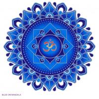 Nalepka za steklo Sunseal Blue Om Mandala