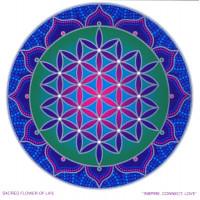 Nalepka za steklo Sunseal  Sacred flower of lofe - Sveta roža življenja