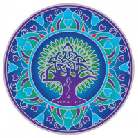 Nalepka za steklo Sunseal Earth mandala - Mandala Zemlja