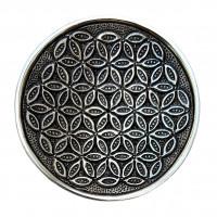 Podstavek za dišeče palčke Roža življenja iz bele kovine