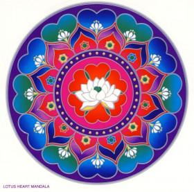 Nalepka za steklo Sunseal Lotus heart mandala
