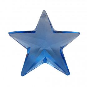 Kristal Swarovski zvezdica, modra - obesek
