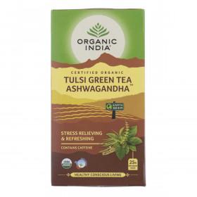 Čaj Tulsi Green Tea Ashwagandha - Tulsi z zelenim čajem in ašvagandho - čajne vrečke