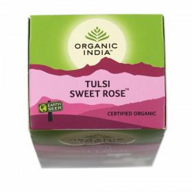 Čaj Tulsi Sweet Rose - Tulsi s sladko vrtnico - čajne vrečke