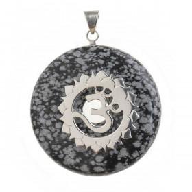 Obesek snežni obsidijan donut 4 cm