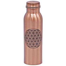 Bakrena flaška z rožo življenja 750 ml