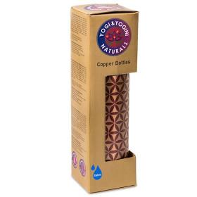 Bakrena flaška z rožo življenja - škrlatna 750 ml