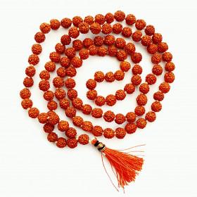 Mala - meditacijska ogrlica Rudrakš, mini 6 mm