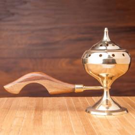 Posoda za kadilo z lesenim ročajem Selena