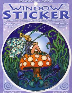 Nalepka za steklo Fairy Mushroom