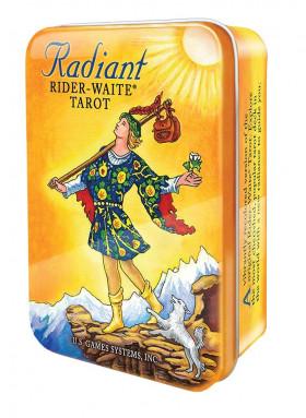 Karte Radiant Rider-Waite tarot v pločevinki